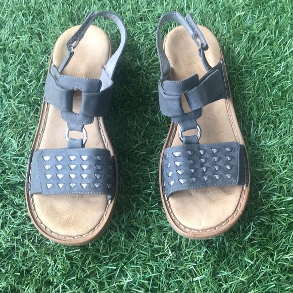 cheaper 82e3a a36da Rieker walking sandal gray size 11